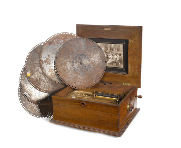 A 15.1/2-inch Polyphon disc musical box,