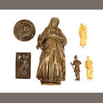 A small collection of bronze figures and reliefs