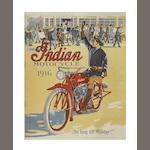 A 1916 Indian Motorcycle range brochure,