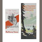 Two sales pamphlets for Super Excelsior and Henderson, 1920s,