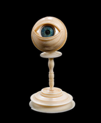A rare South German anatomical model of an eyeprobably late 17th century