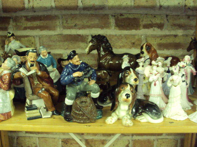 A mixed collection of ceramics to include Beswick and Coalport