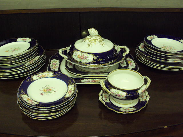 An English porcelain part dinner service