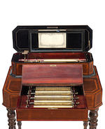 A fine interchangeable cylinder musical box-on-stand, by B. A. Bremond, circa 1870
