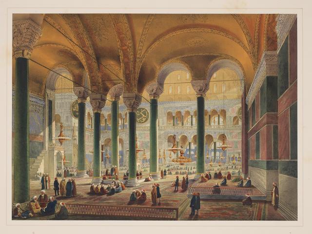 FOSSATI (GASPARD) Aya Sofia Constantinople, 1852