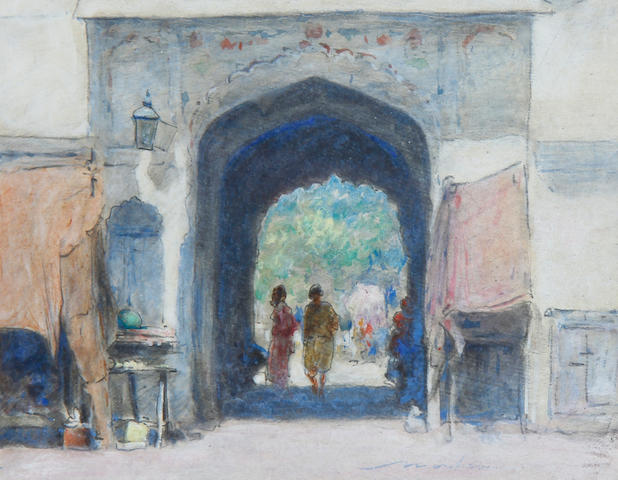 Mortimer Luddington Menpes, RI, RBA, RE (British, 1855-1938) An Indian gateway