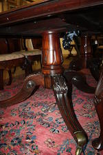 A George IV mahogany twin pedestal dining table  probably Irish in the manner of Mack Williams and Gibson
