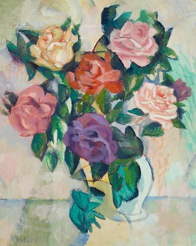 Vladimir Davidovich Baranoff-Rossiné  (Russian, 1888-1944) Roses