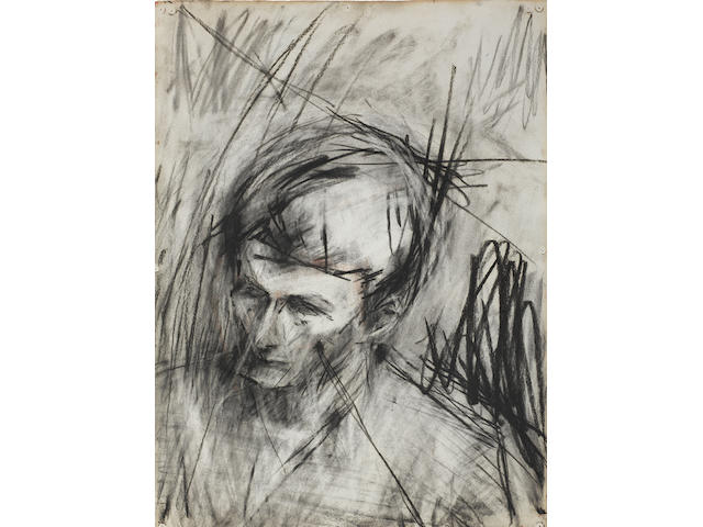 Frank Auerbach 'Portrait of Lucian Freud'