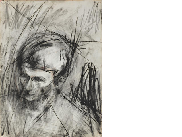 Frank Auerbach (born 1931) Head of Lucian Freud 1960  charcoal and chalk on paper  78 by 56.2 cm. 30 11/16 by 22 1/8 in.  This work was executed in 1960.