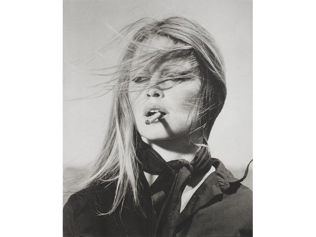 Terry O'Neill (British, born 1938) Brigitte Bardot, 1971 Paper 76.1 x 56.2cm (29 15/16 x 22 1/8in), image 50.2 x 40.4cm (19 3/4 x 15 7/8in).