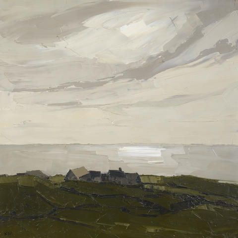 Sir Kyffin Williams R.A. (British, 1918-2006) Rhos Cryman 76.2 x 76.2 cm. (30 x 30 in.)