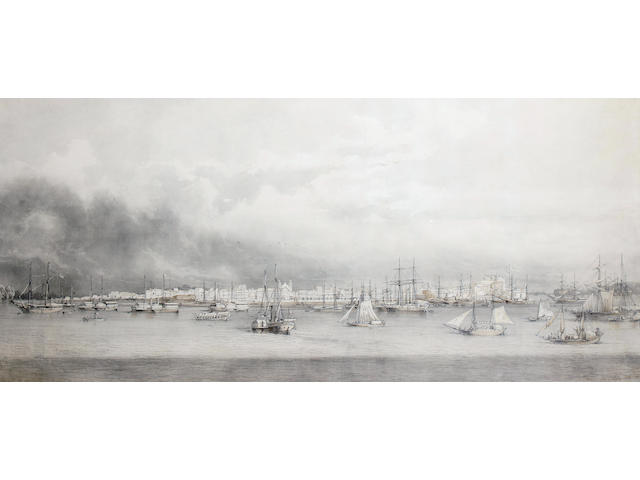 Giuseppe Leone (Joseph Léon) Righini (Italian, circa 1820-1884) Panorama of Belém do Pará, Brazil