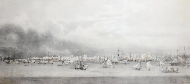 Giuseppe Leone (Joseph Léon) Righini (Italian, circa 1820-1884) Panorama of Belém do Pará, Brazil