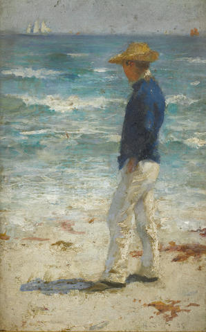 Henry Scott Tuke, RA, RWS (British, 1858-1929) Looking out to sea