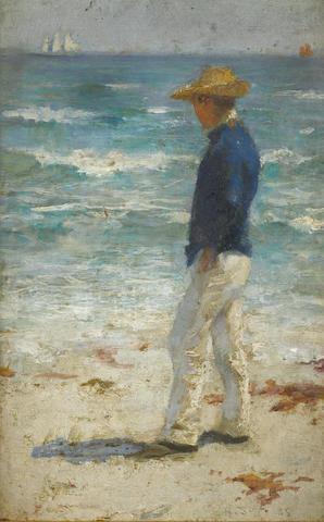 Henry Scott Tuke, RA, RWS (British, 1858-1929) Looking out to sea
