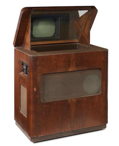 An Ekco type TSC48 mirror-lid television, 1948,