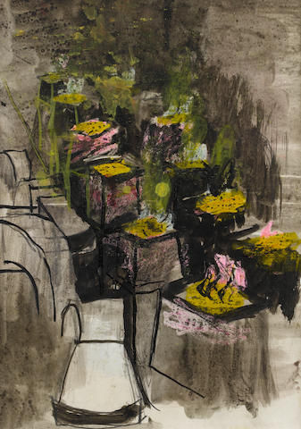 Graham Sutherland O.M. (British, 1903-1980) Study: inglot mould foundry