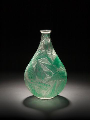 René Lalique  'Sauge' a Vase (stained), design 1923