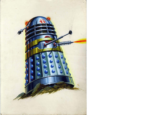 Doctor Who: The original preliminary design artwork for 'The Dalek Book', 1964,