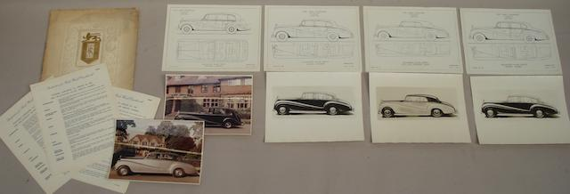 Specification for Rolls-Royce Silver Wraith Coachwork by Park Ward,