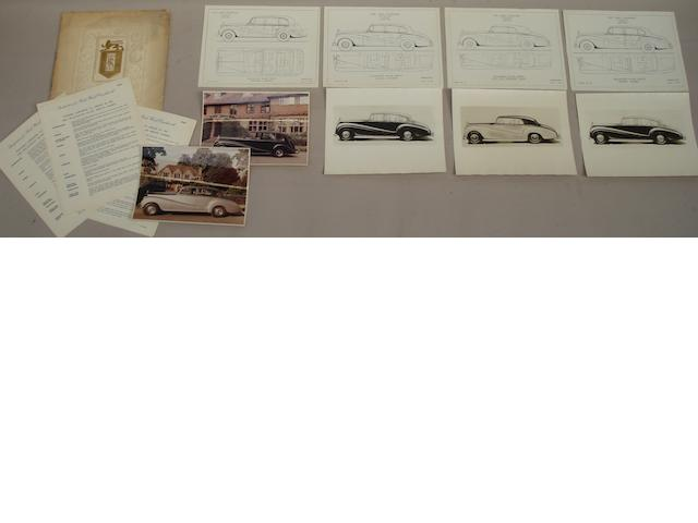Specification for Rolls-Royce Silver Wraith Coachwork by Park Ward