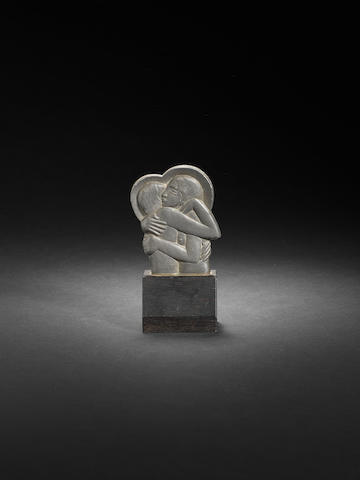 Eric Gill (British, 1882-1940) Divine Lovers (Icon) 13 cm. (5 1/8 in.) high (including base)