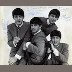 A signed publicity photograph of the Beatles, 1963,