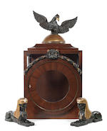 The 18th century Judocus Mortier barrel organ and dulcimer combination compound musical clock, in important architectural case, signed on the side of the organ movement Fecit Mortier Gandavi 1785, the casework school of Abraham and David Roentgen, Belgium,