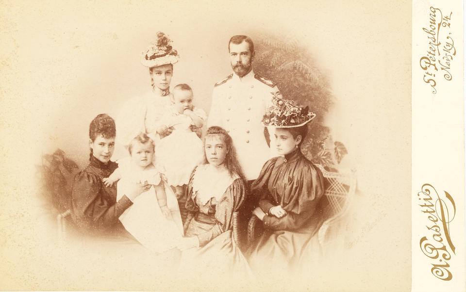A collection of photographs of the Russian Imperial familyPasetti, Levitsky, Bergamasco, De Jongh, and others circa 1894-1905