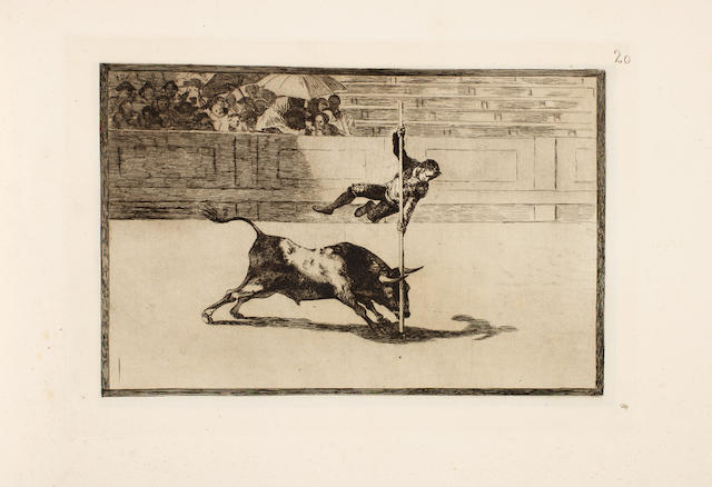 GOYA Y LUCIENTES (FRANCISCO JOSE DE) La taureaumachie [La Tauromaquia], 1876