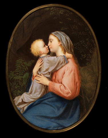 A Berlin plaque of the Madonna and Child, mid 19th century