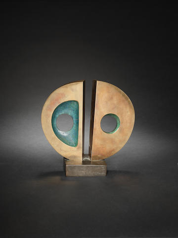 Dame Barbara Hepworth (British, 1903-1975) Broken Circle 22 cm. (8 5/8 in.) high (including base)