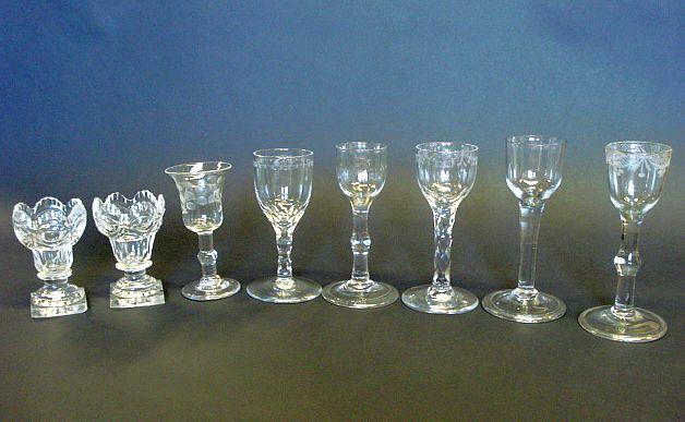 A collection of glasses Circa 1770-1800