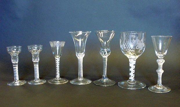 A collection of airtwist glasses 18th/19th Century
