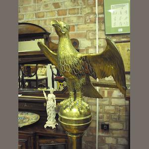 A late 19th century/early 20th century brass lectern