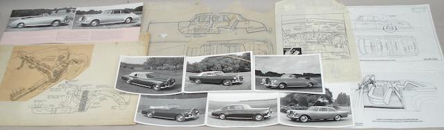 A collection of drawings and photographs relating to Rolls-Royce Silver Cloud