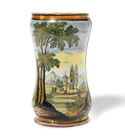A Castelli maiolica Albarello, dated 1760