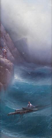 Kiriak Konstantinovich Kostandi (Ukrainian, 1853-1921) Rescue ashore