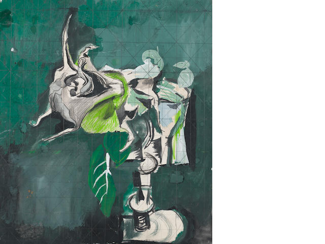 Graham Sutherland O.M. (British, 1903-1980) Datura 39.5 x 35 cm. (15 1/2 x 13 3/4 in.)