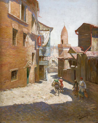 Richard Karlovich Zommer (Russian, 1866-1939) The winding lane