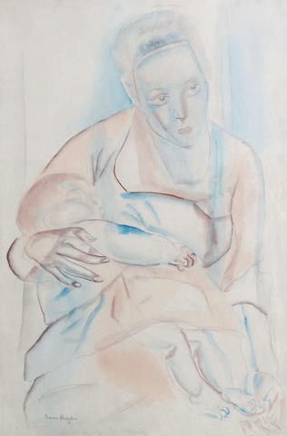 Frances Hodgkins (New Zealand 1869-1947) Mother and Baby