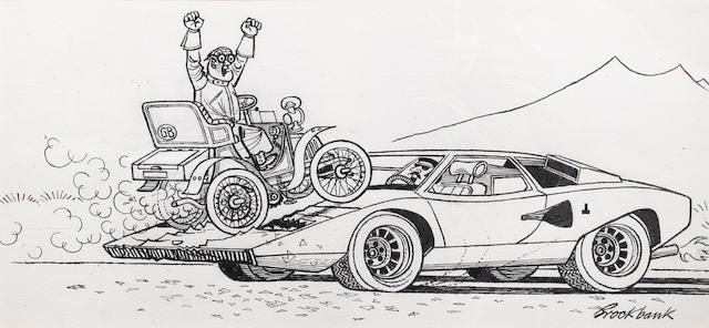 Russell Brockbank (1913-1979), '1903 Napoleon; 1974 Lamborghini Countach',