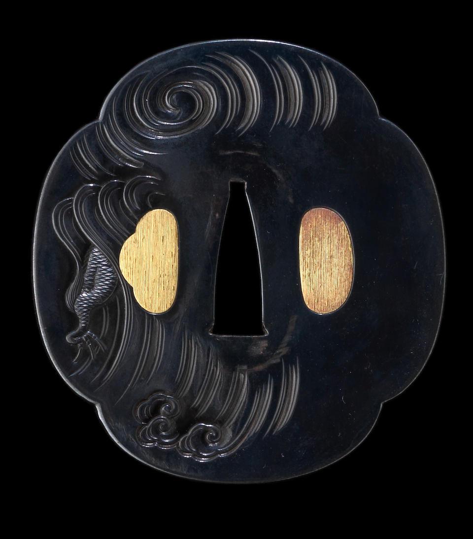 A katana koshirae The fittings by Omori Hideuji (Hidechika), late 18th century