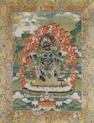 A Tibetan or Himalayan Thanka Probably 18th century