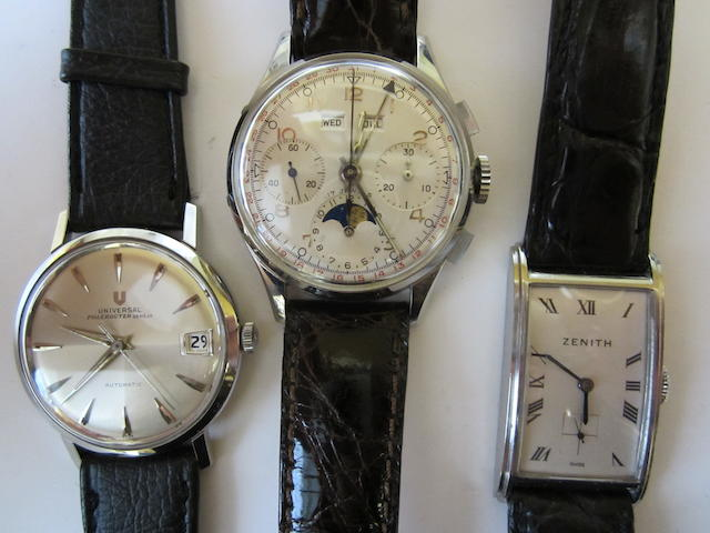 A lot of three wristwatches