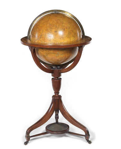 A  Cary's 15-inch celestial library globe,  English,  circa 1830,