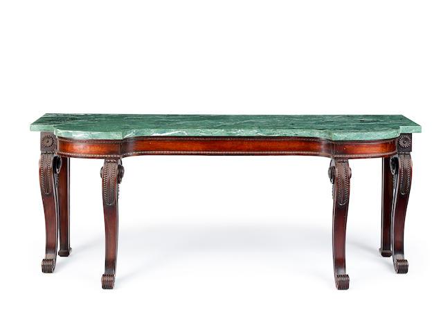 A Scottish Regency mahogany console table