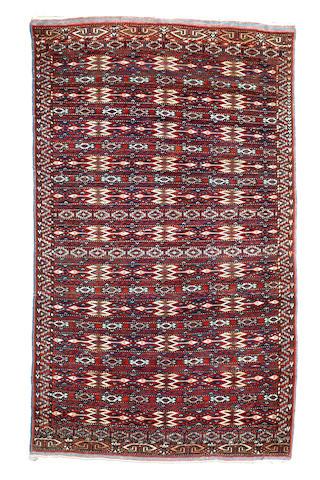 A Turkoman rug   Iran  262cm x 153cm.