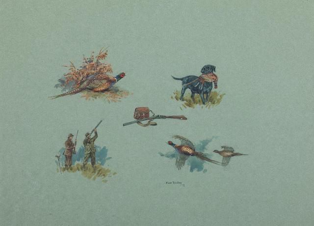 Brian Rawling (British) Pheasant shooting